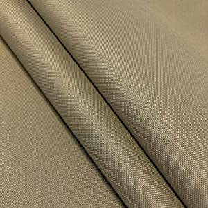 "Ottertex Canvas Fabric Waterproof Outdoor 60"" Wide 600 Denier 15 Colors Sold by The Yard (1 Yard, Khaki)"