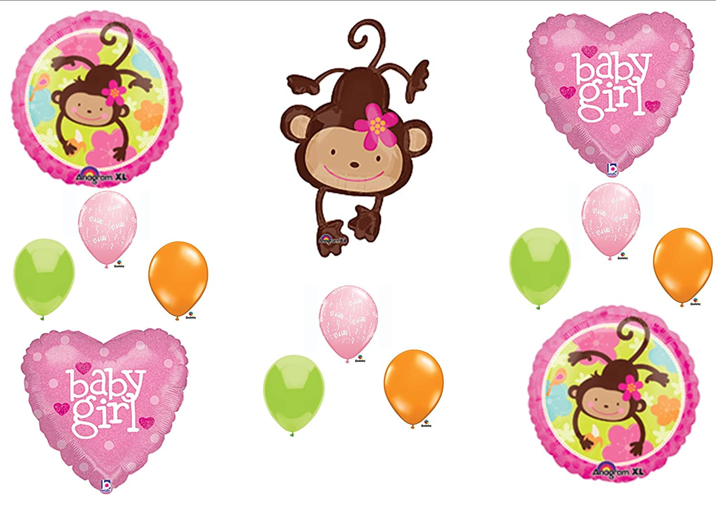 Amazon Com Mod Monkey Baby Girl Shower Balloons Decorations