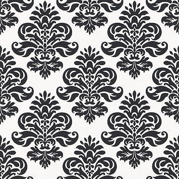 Rasch 266917 Papier Peint Motif Baroque Noir Blanc Amazon Fr Bricolage