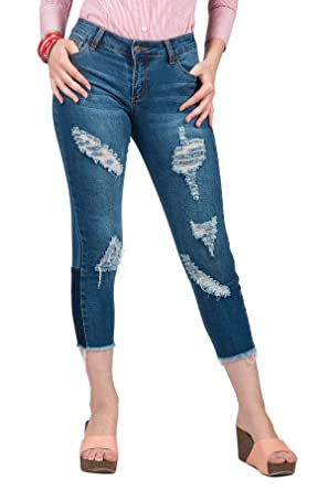 87ca6528162 Hadari Women Ripped Skinny Jeans Products t Ripped