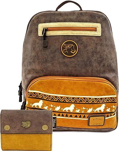 loungefly disney Juego de mochila y cartera con diseño