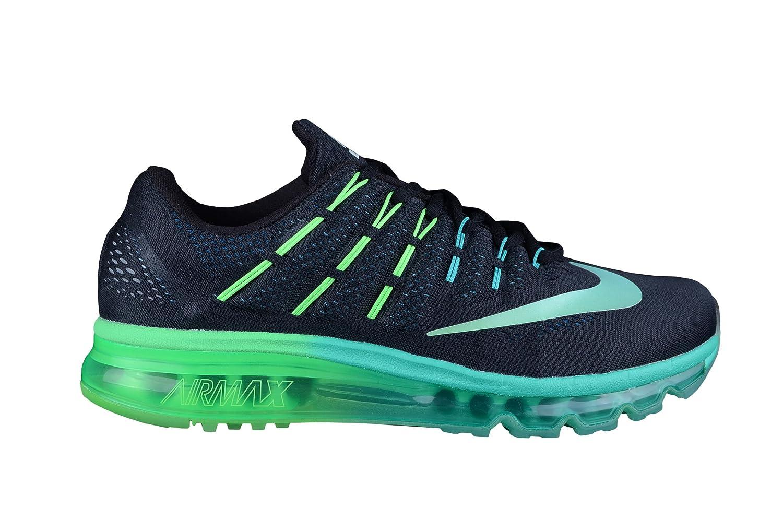 Nike Air MAX, Zapatillas de Running para Hombre 42.5 EU|Negros-verdes-celeste