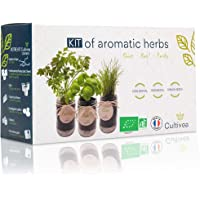 Cultivea Kit completo de hierbas - Kit completo de hierbas - Cultiva tus propias hierbas aromáticas - 100% ecológicas…