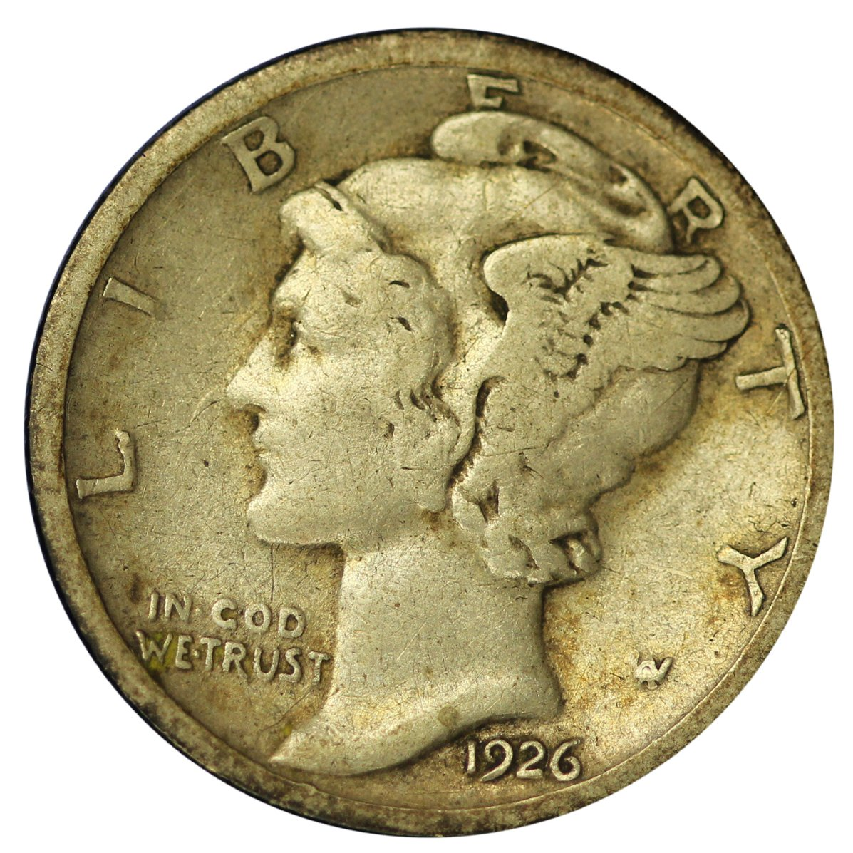 Uncertified 1942-P Mercury Dime AU