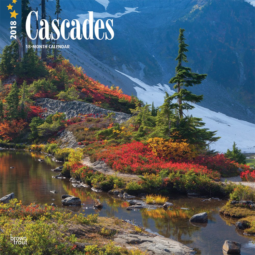 Cascades 2018 12 x 12 Inch Monthly Square Wall Calendar, USA United States of America Scenic Nature Mountain (Multilingual Edition)