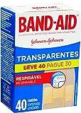 Band- Aid Curativos Adesivos, Transparente, 40 Unidades