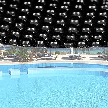 WilTec Cubierta Solar Piscina Negro isotérmica de Burbujas Redonda Ø 5m Cobertor Protección