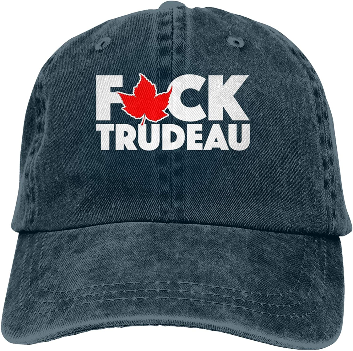 Vintage Adjustable Baseball Caps Fu-ck Trudeau Unisex Vintage Dad Hat