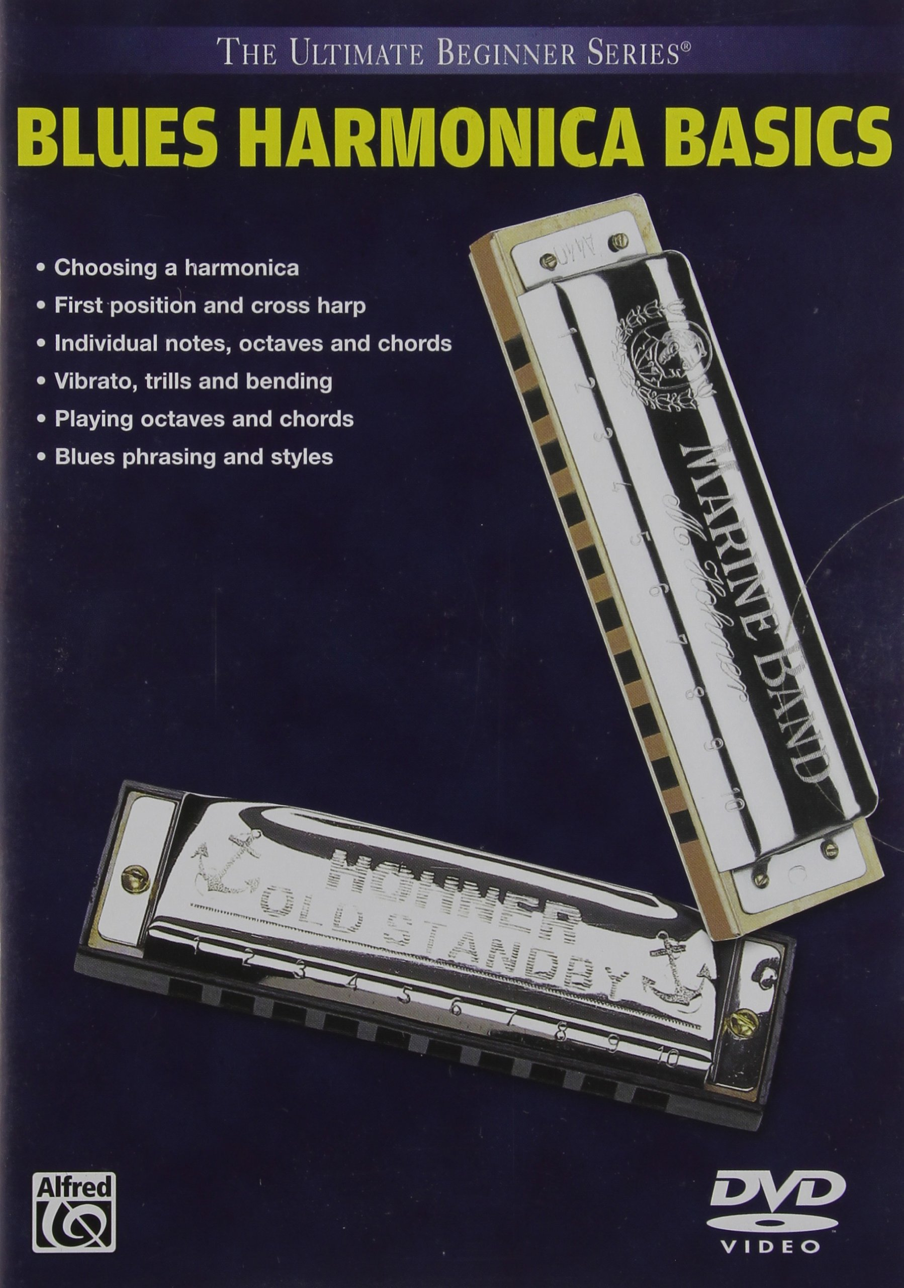 Ultimate Beginner Blues Harmonica Basics, Vol 1 & 2 (DVD) by Alfred