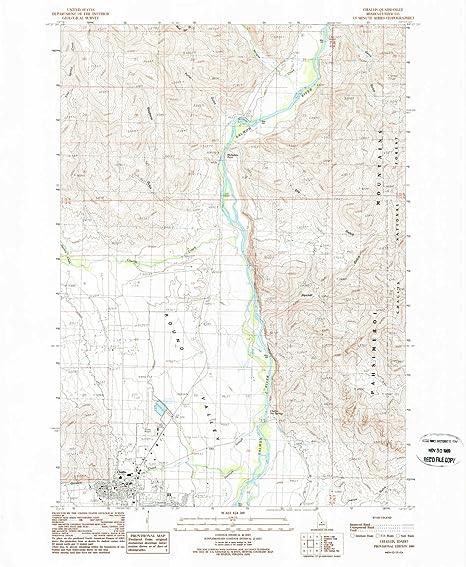 Amazon Com Yellowmaps Challis Id Topo Map 1 24000 Scale 7 5 X