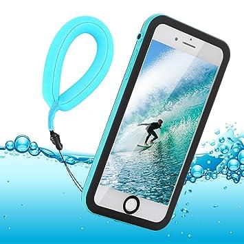 Funda Impermeable iPhone 8 / iPhone 7, IP68 Waterproof Outdoor Delgado Cover a Prueba de choques Anti-rasguños Full Body con Protector de Pantalla ...