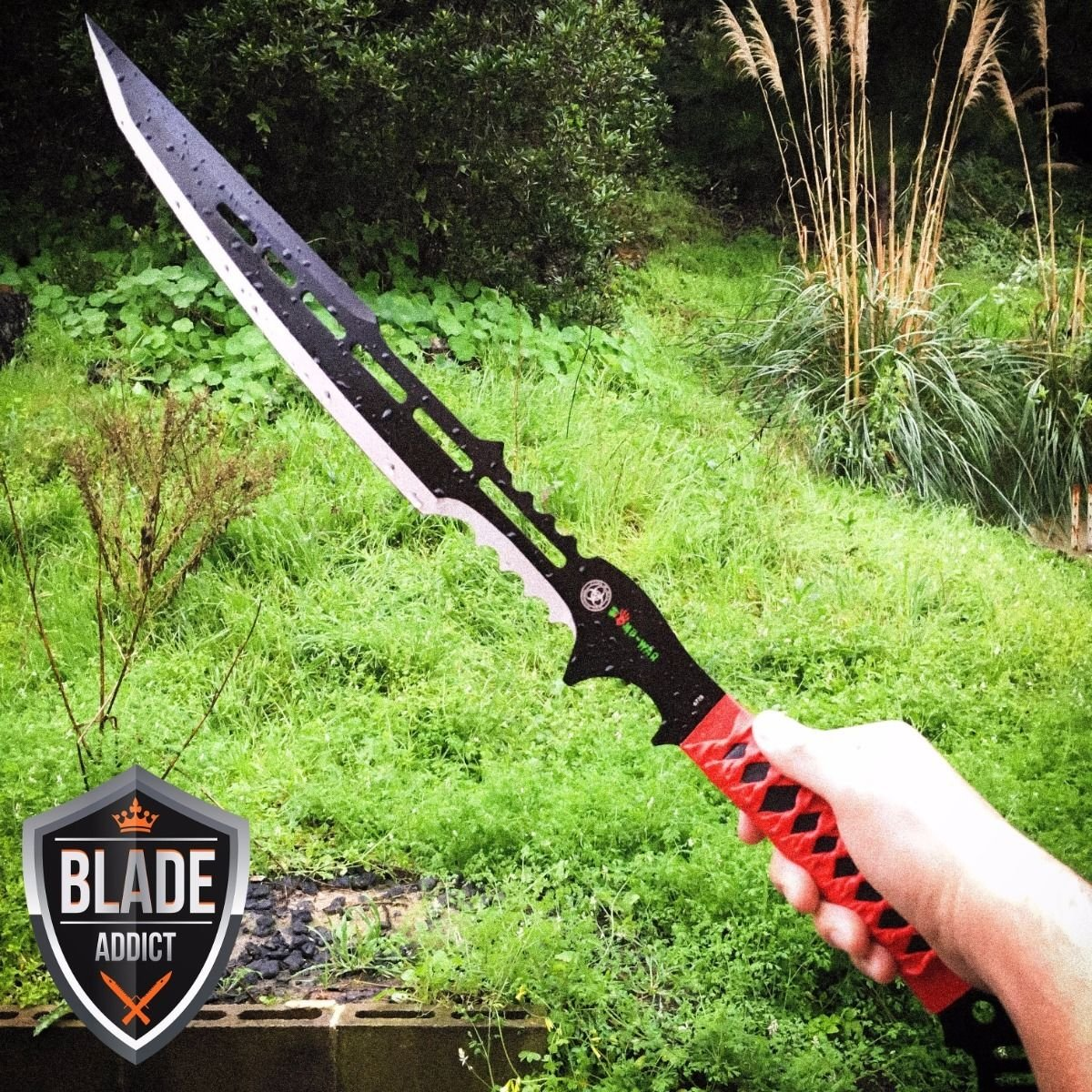 New 28'' ZOMBIE NINJA FULL TANG SWORD MACHETE TACTICAL COMBAT WARRIOR SAMURAI EcoGift Nice Knife with Sharp Blade- Great For Fun And Practical Use