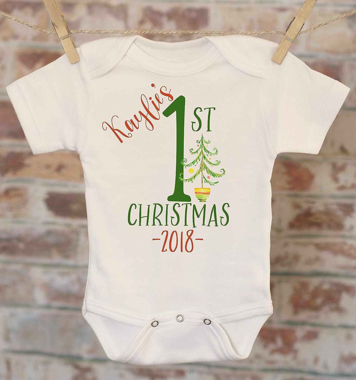 Personalized First Christmas 2018 Onesie® , Christmas Onesie, Personalized Onesie, Cute Onesie, Customized Onesie, Boho Baby Onesie