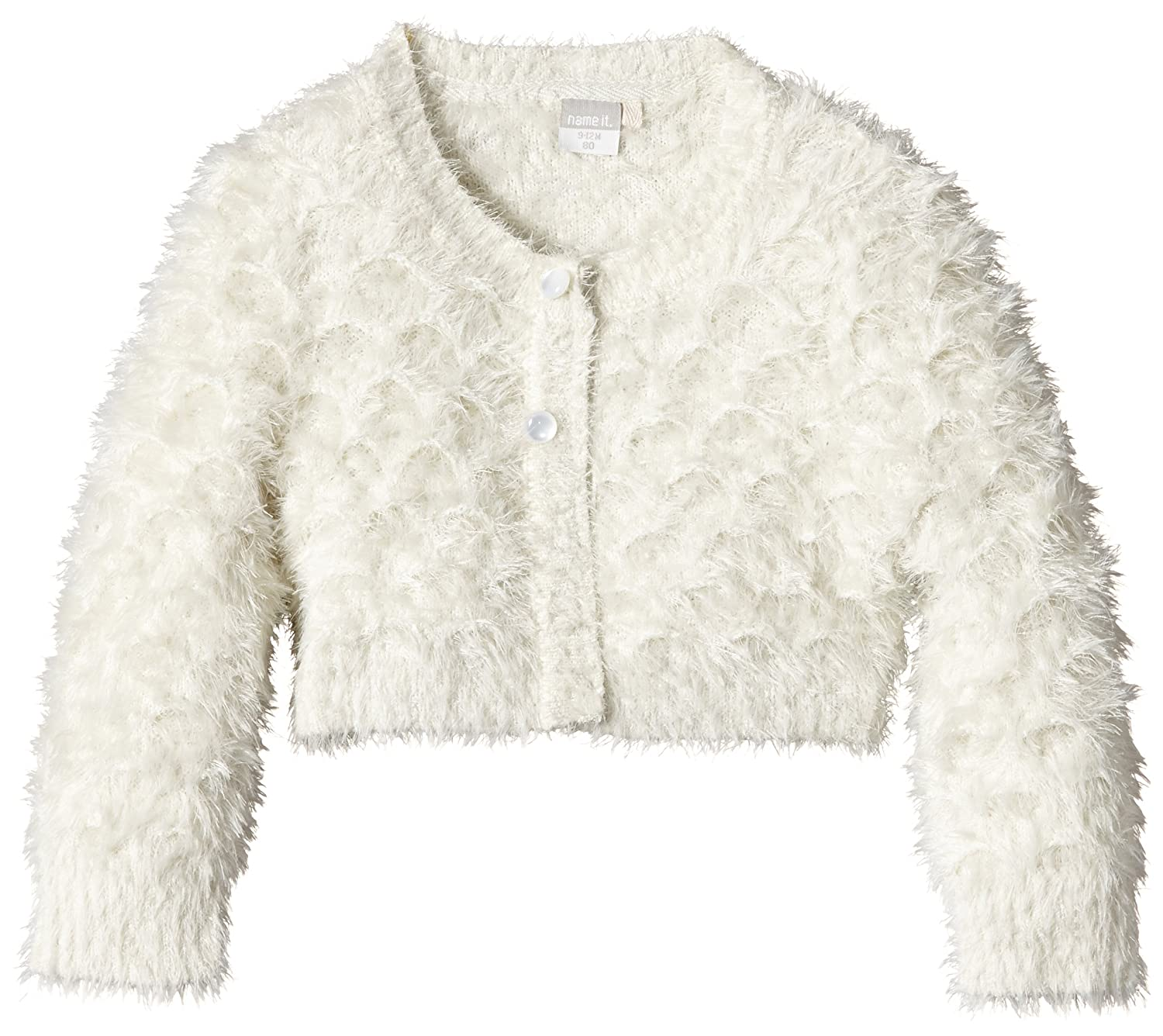 name it M/ädchen Strickjacke Bolero Nitpinorable Wollwei/ß