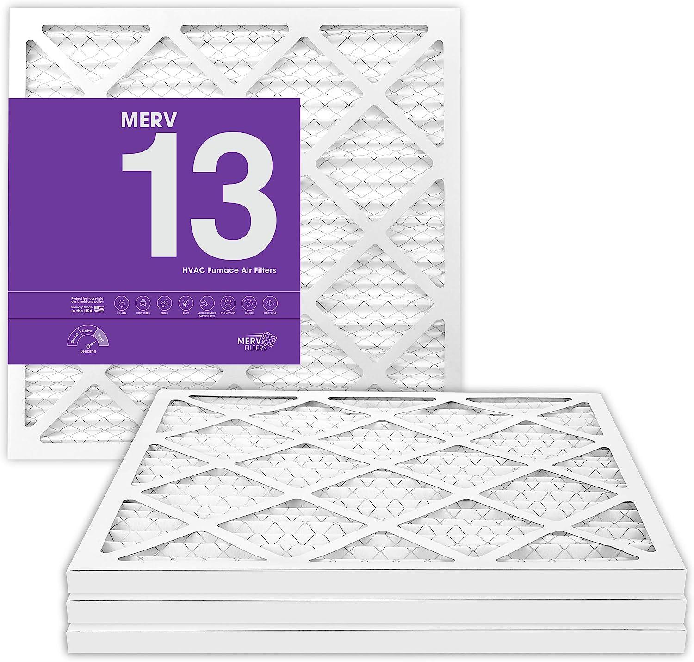 MervFilters 14x14x1 Air Filter, MERV 13, MPR 1500, AC Furnace Air Filter, 4 Pack