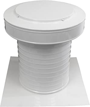 9 Inch Diameter Keepa Vent An Aluminum Roof Vent For Flat Roofs In White Amazon Com