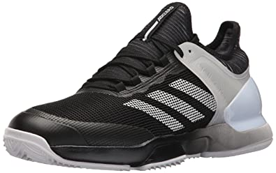finest selection b72d9 f207a adidas Men s Adizero Ubersonic 2 Clay Tennis Shoe core Black White, ...