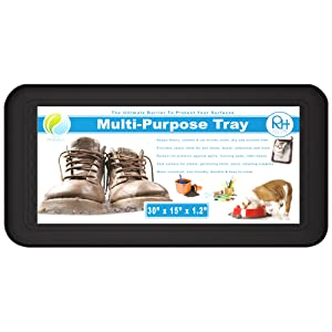 Boot Tray Shoes Mat Ideal For Plants Entryway Pet Food Dog Water Bowls Cat Litter Wet Paint Snow | Extra Large Multipurpose Waterproof Mud Room Organizer Spill Containment Protects Floors By Real Home