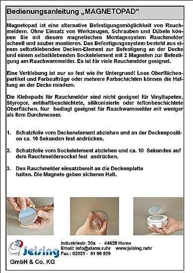 Magnetopad 3er Set, Magnetbefestigung für Rauchmelder: Amazon.de ...