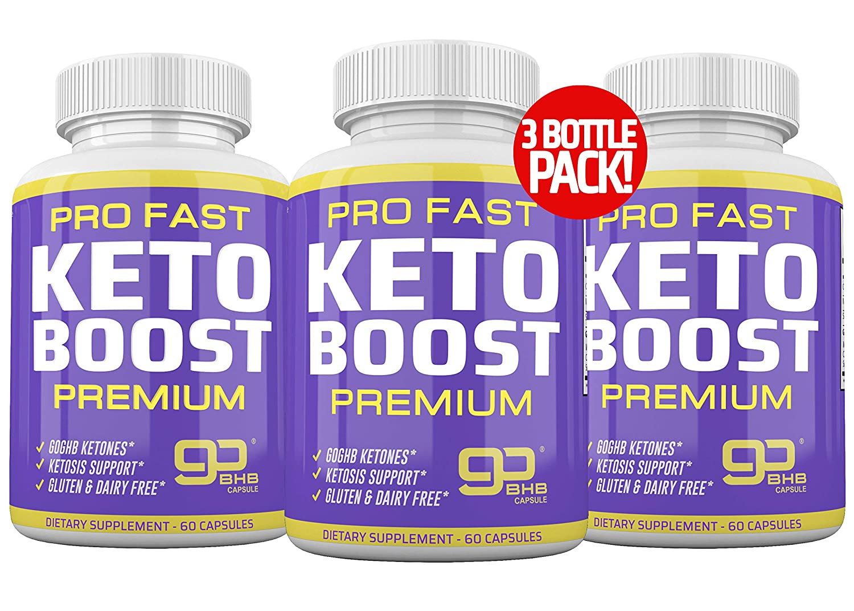 (3-Pack) Ultra Fast Pro Keto Boost 2400mg - Keto Pills for Keto Diet - Exogenous Ketones Supplement for Men and Women - Metabolism Support, Energy & Focus Supplement - Keto Supplement - 90 Day Supply