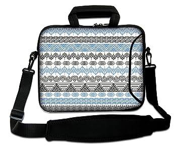 Luxburg: Bolso Bandolera para Ordenador portátil, 12 Pulgadas (250 x 300 mm), Flexible, con asa; Motivos Triangulares: Amazon.es: Informática