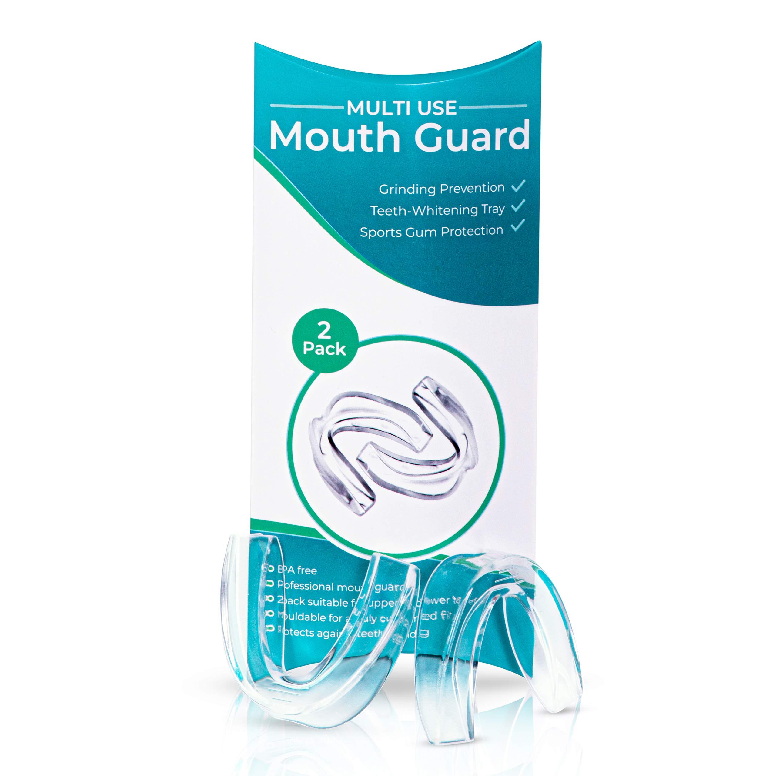 Mouth Guard Multi-Use Dental Gel Gum Shield Night Teeth Grinding - 2PCS/Pack (Clear)