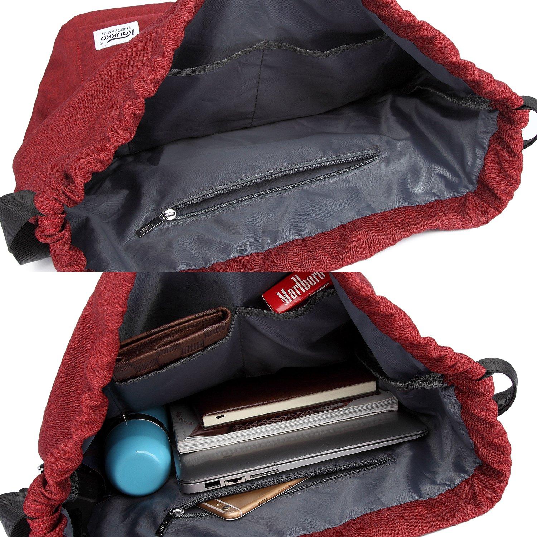 Drawstring Sports Backpack Lightweight Gym Yoga Sackpack Shoulder Rucksack for Men and Women Blue