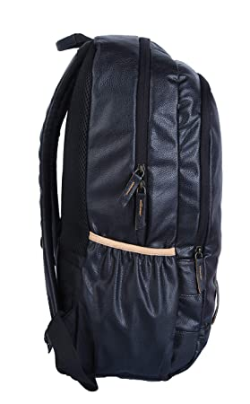 b639f94f3d Gear Classic Anti Theft Faux Leather 20 Ltrs Black Laptop Backpack  (LBPCLSLTH0101)  Amazon.in  Bags