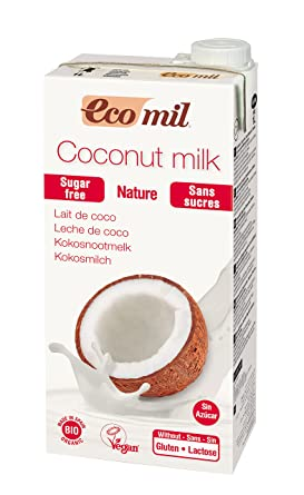 EcoMil Coconut Nature, Bebida de coco Sin azúcar- 1L
