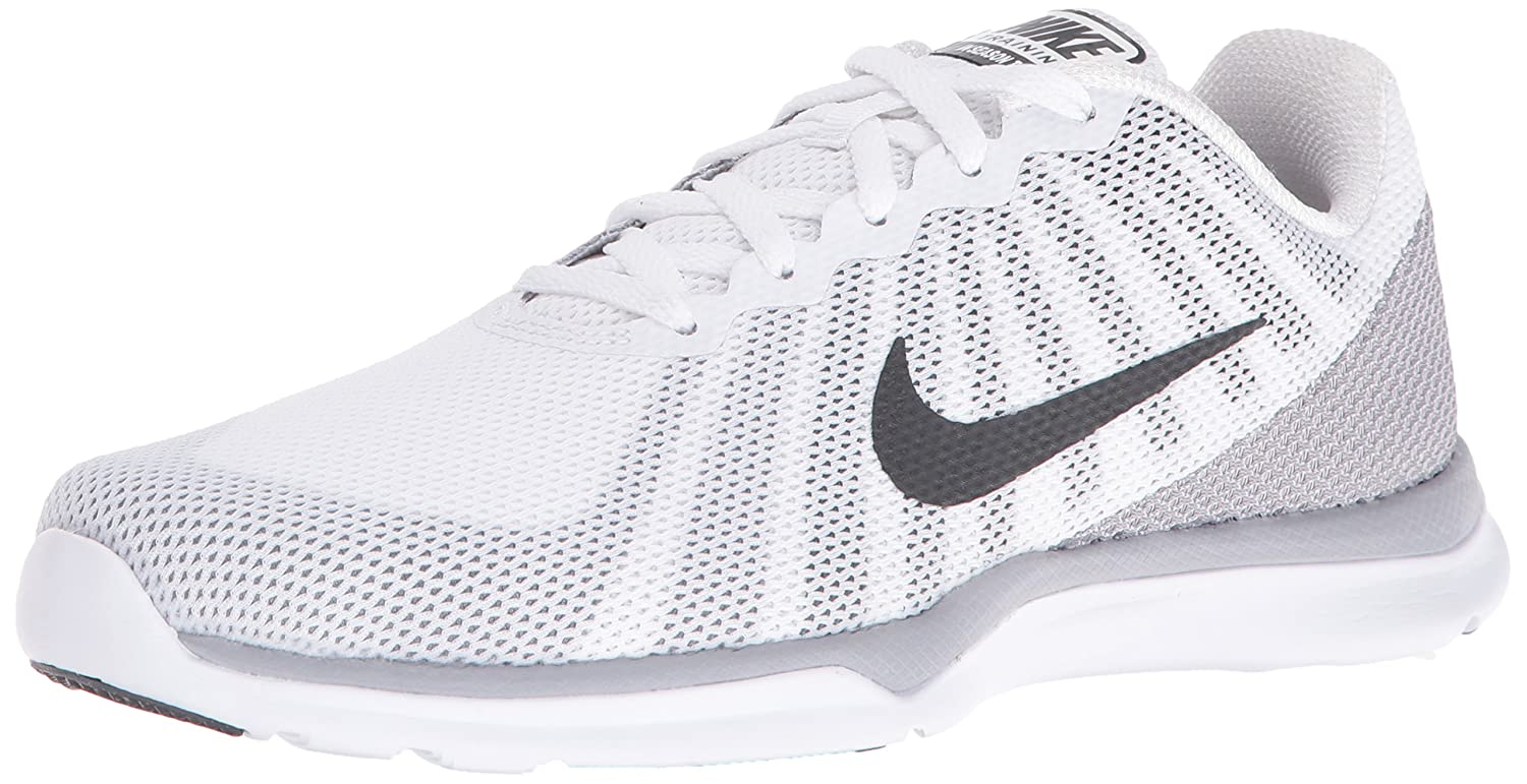 NIKE Women's in-Season TR 6 Cross Training Shoe B01DL3XLFS 7.5 B(M) US|White/Anthracite/Wolf Grey/Stealth