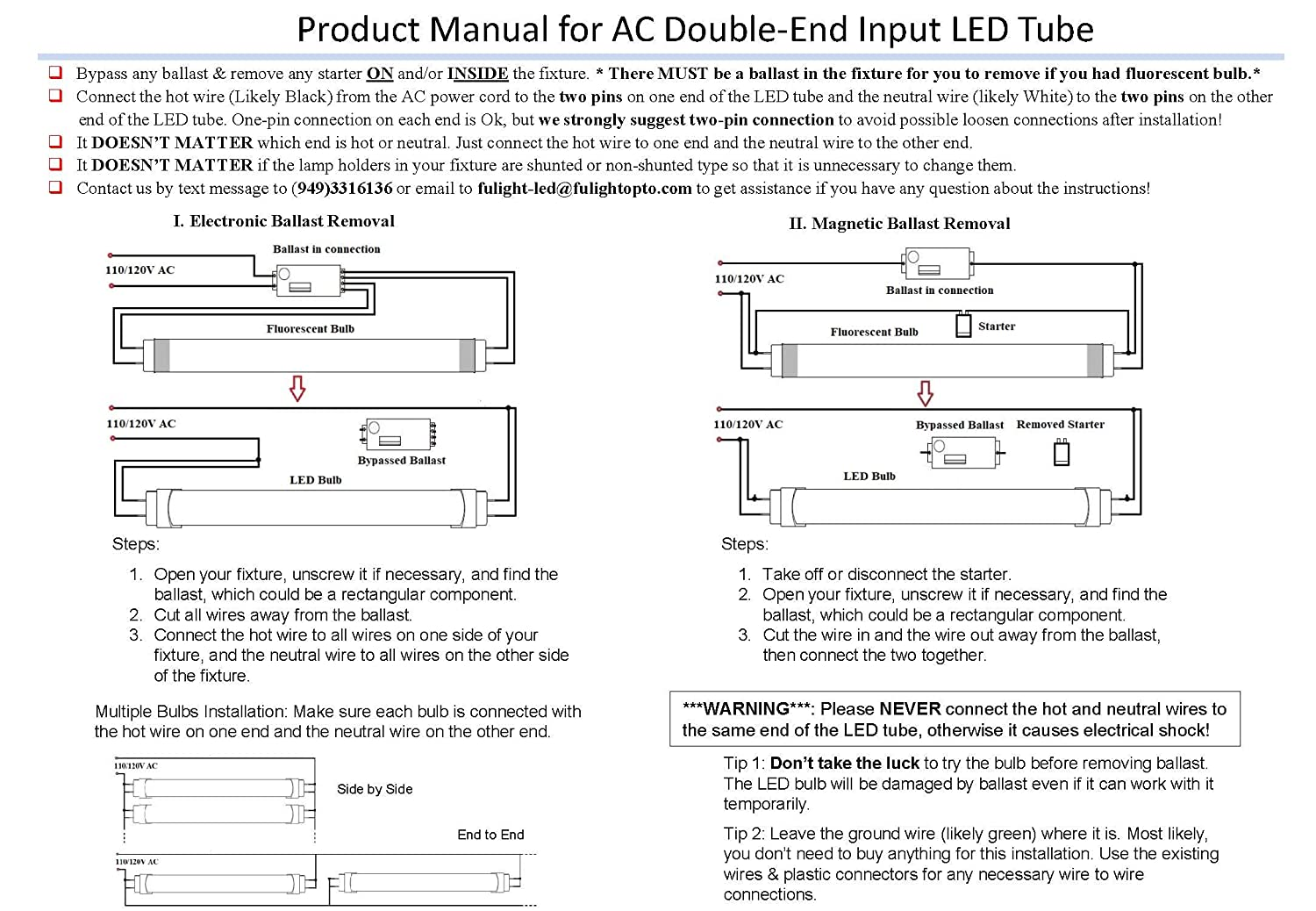 The Circuit Diagram Of 4w Fluorescent Lamp Fulight Rotatable F4t5 D Led Tube Light 6 Inch 2w Equivalent Daylight 6000k Double End Powered Frosted Cover 110 120vac