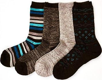 a753270e0 Kirkland Signature Ladies  Trail Socks Merino Wool (Brown Teal)