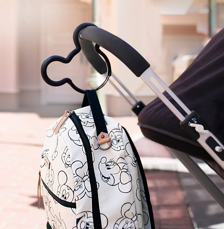 Petunia Pickle Mickey Mouse - Gancho para carrito de bebé, Negro
