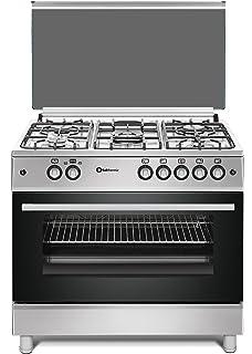 Cocina SolThermic F9L50G2-I PANORÁMICA de color Color INOX compuesta por 5 Quemadores y Horno