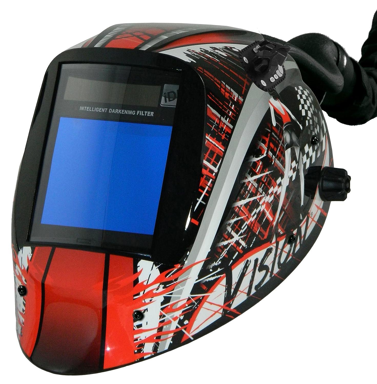 ArcOne AP-IDF81-1555 Vision Welding Helmet with 5 x 4 Intelligent Auto-Darkening Filter and AirPlus PAPR System Tank
