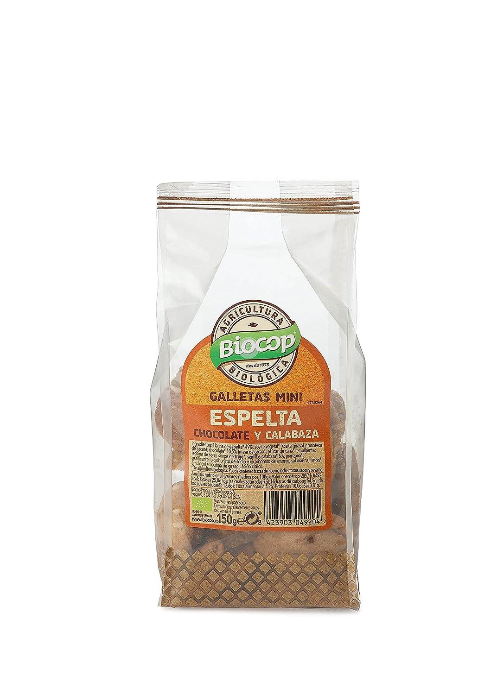 GALLETAS MINI ESPELTA CHOCOLATE Y CALABAZA BIO BIOCOP 150 GRS: Amazon.es: Alimentación y bebidas