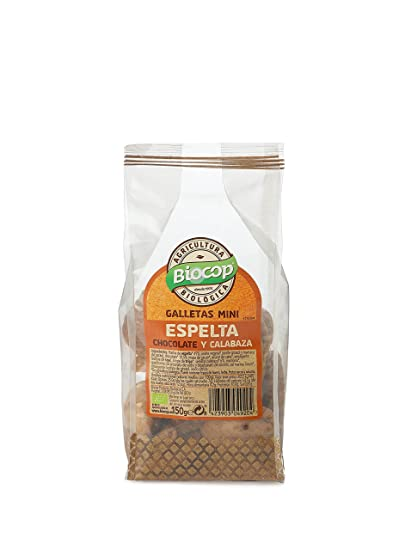 GALLETAS MINI ESPELTA CHOCOLATE Y CALABAZA BIO BIOCOP 150 ...