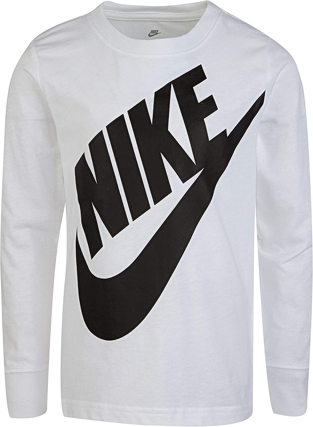 NIKE Childrens Apparel Boys Long Sleeve Sportswear Graphic T-Shirt