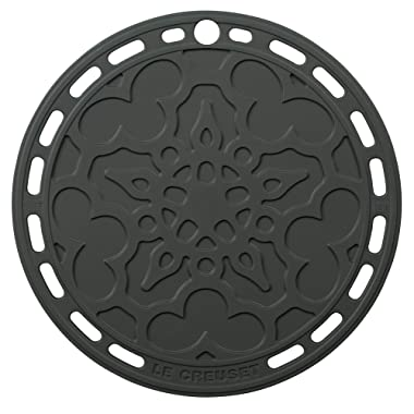 Le Creuset Silicone 8  Round French Trivet, Oyster