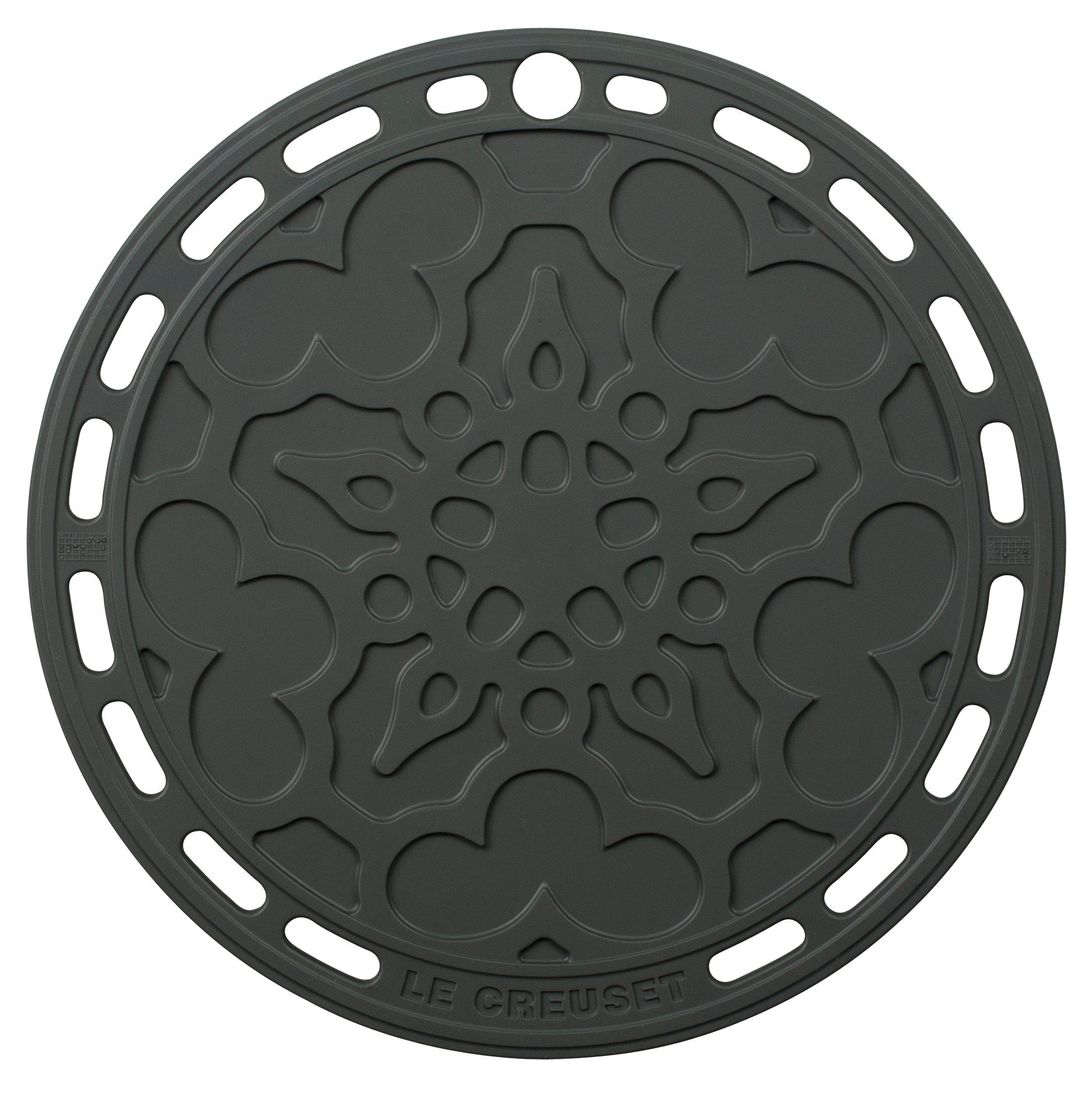 Le Creuset Silicone 8'' Round French Trivet, Oyster