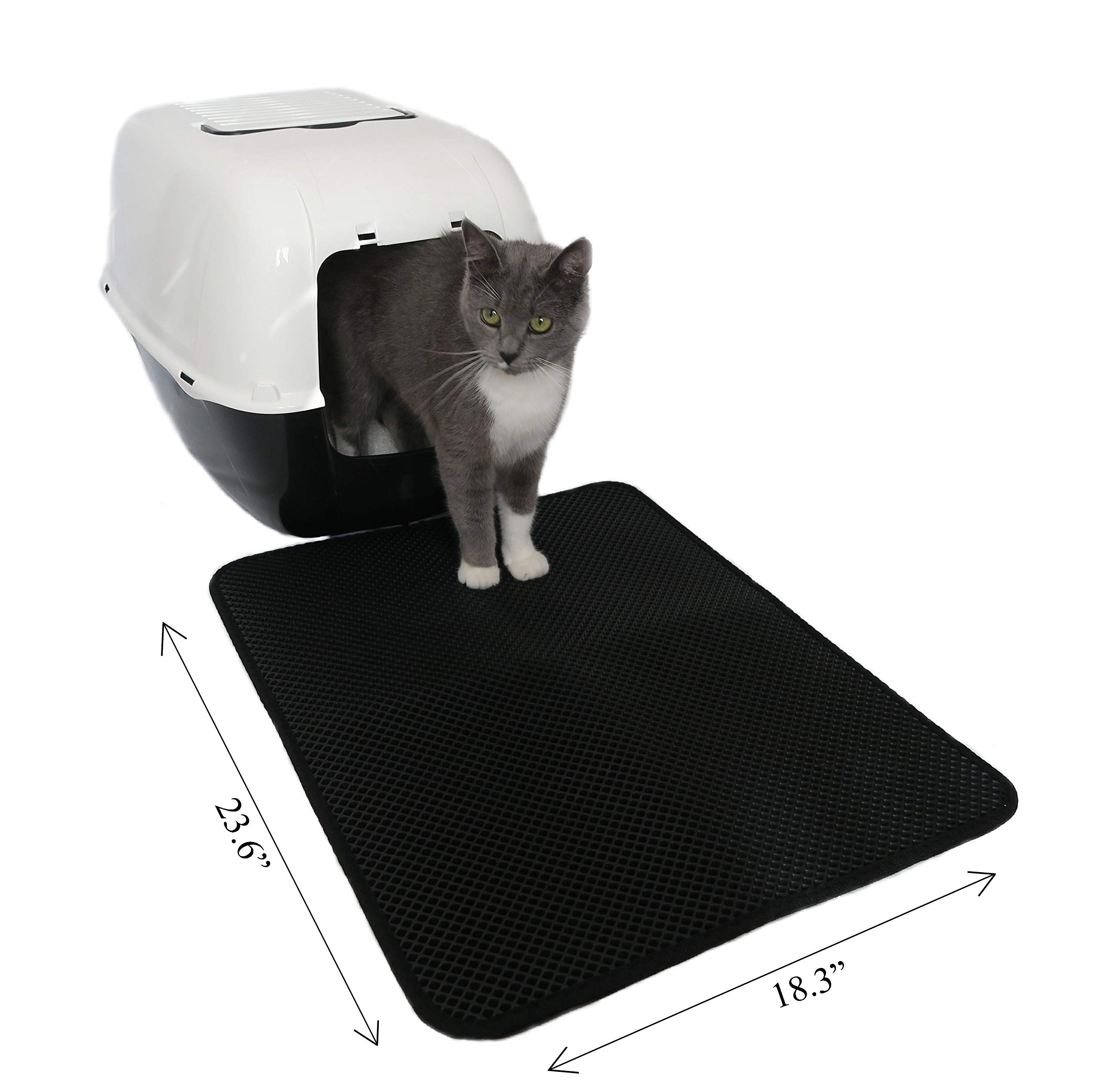 Ankamy (18.3''x23.6'') Perfect Size for Cat Litter Mat Trapper Double Layer Design, Lightweight, Durable and Waterproof.