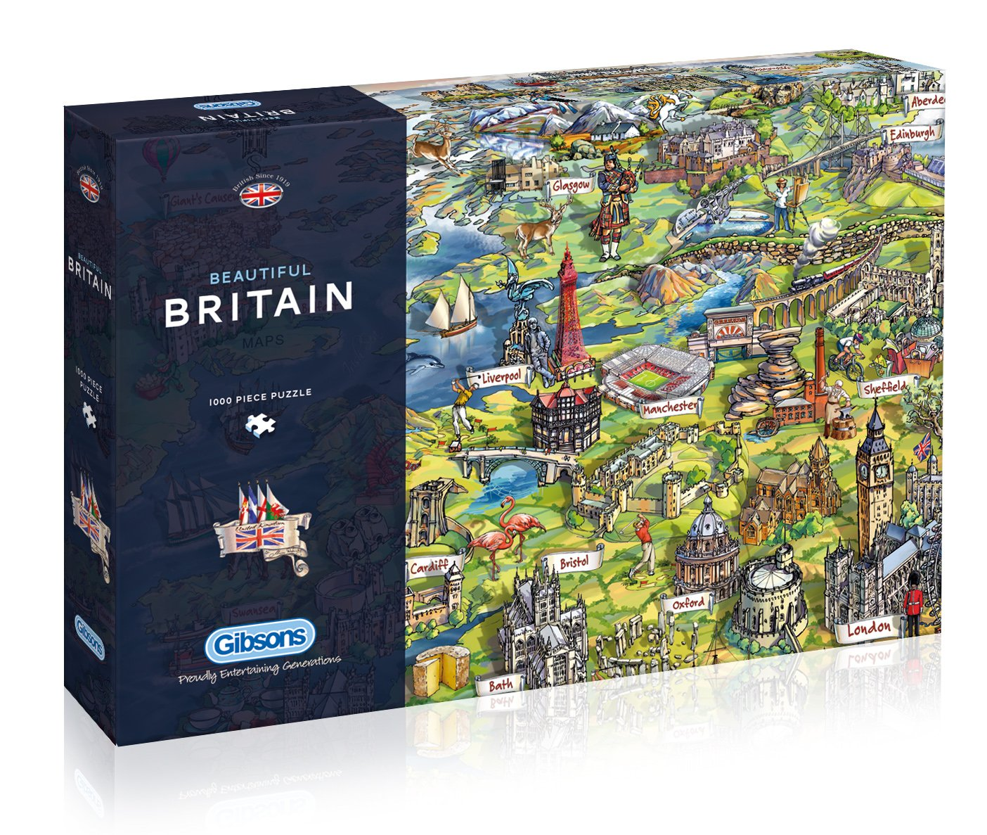 1000 piece Gibsons Beautiful Britain Jigsaw Puzzle