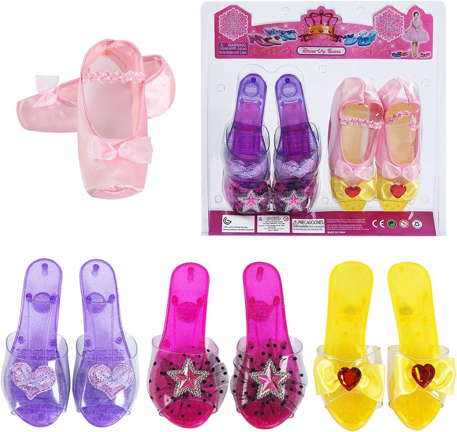 fedio Girls Princess Dress up Shoes 4