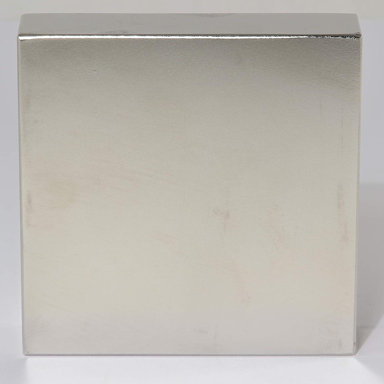 Neodym Magnet Extra Stark Super Magneten Quader Gro/ß Neodym Magnete Power Block Platte D 60mm x 10mm N52 140Kg