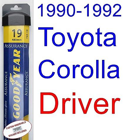1990 - 1992 Toyota Corolla Base hoja de limpiaparabrisas de repuesto Set/Kit (Goodyear limpiaparabrisas blades-assurance) (1991): Amazon.es: Coche y moto