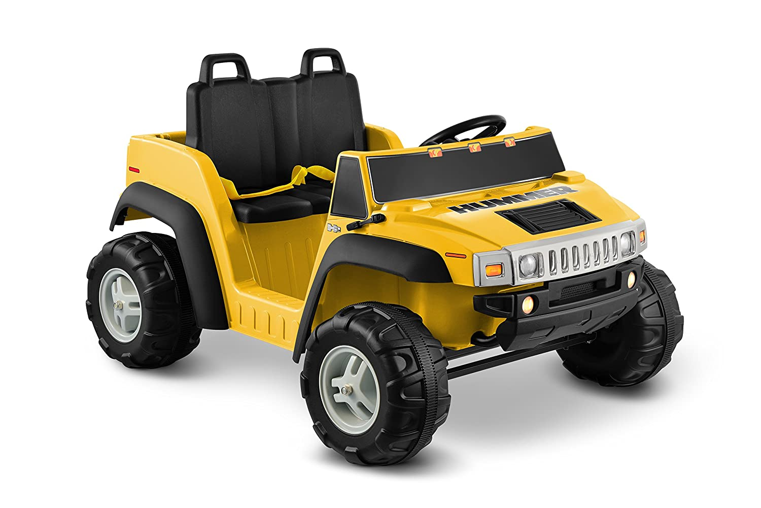 Amazon Com Hummer H2 12v Two Seater Yellow Toys Games