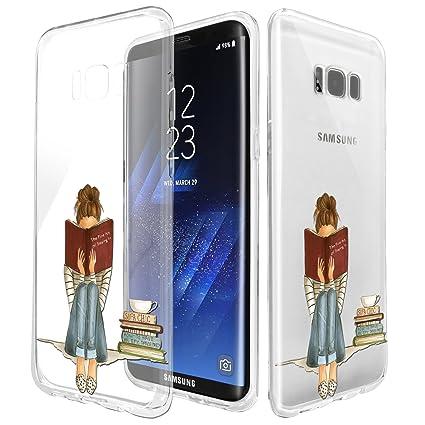 Amazon.com: Carcasa de TPU para Samsung S8, parte trasera de ...