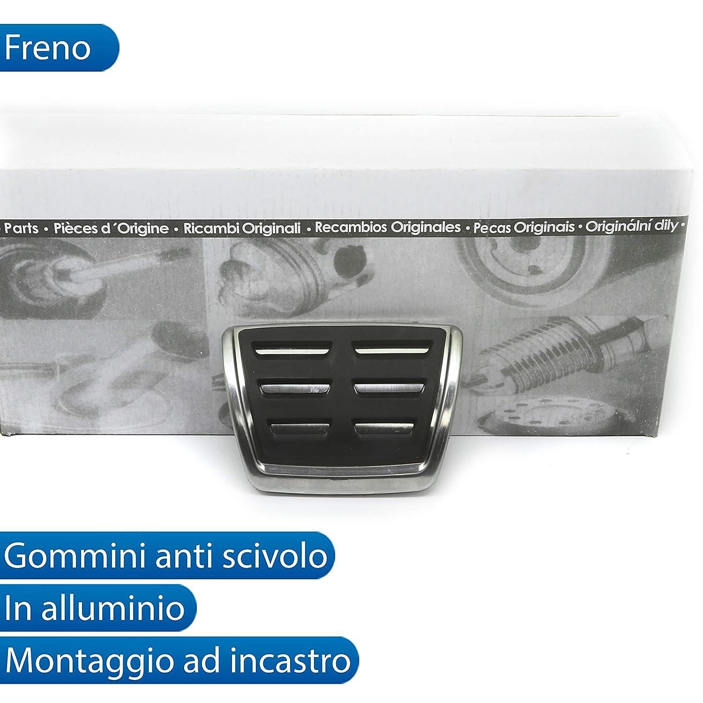 Kit COPRIPEDALI Copri Pedali PEDALIERA SPECIFICO per Audi A4 B9 in Alluminio Antiscivolo Stile S-Line S ACCELLERATORE Freno POGGIAPIEDE per Cambio Automatico DSG S-TRONIC