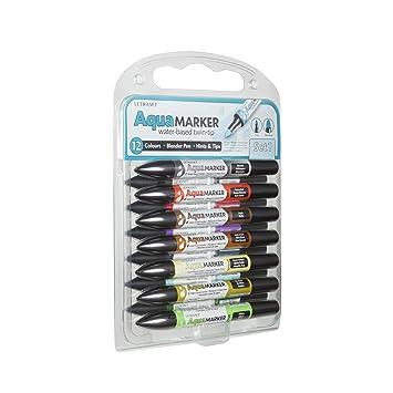 Letraset AquaMarker-Set, Nr. 1 (12 Farben): Amazon.de: Bürobedarf ...