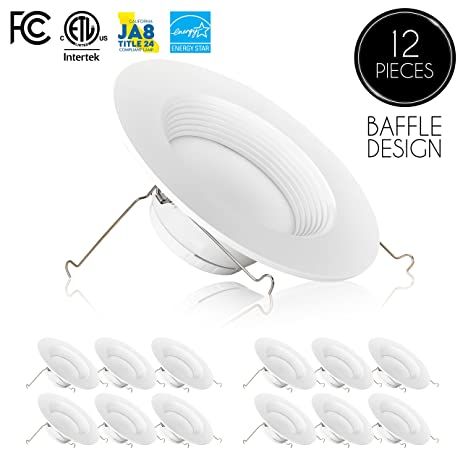 12 pack 5 6 inch dimmable led downlight 12w 100w replacement